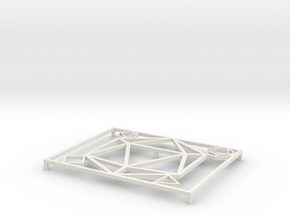 Dice Soap Tray  in White Natural Versatile Plastic