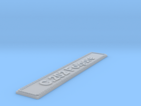 Nameplate C.202 Folgore in Smoothest Fine Detail Plastic