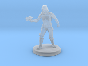 Storm Trooper Mini figure 001 in Smooth Fine Detail Plastic
