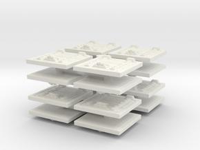 Wooden Trapdoor (x16) 1/144 in White Natural Versatile Plastic