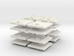 Wooden Trapdoor (x16) 1/160 in White Natural Versatile Plastic