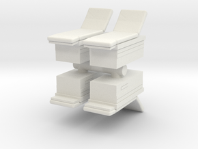 Medical Examination Table (x4) 1/100 in White Natural Versatile Plastic