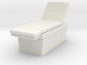 Medical Examination Table 1/64 in White Natural Versatile Plastic