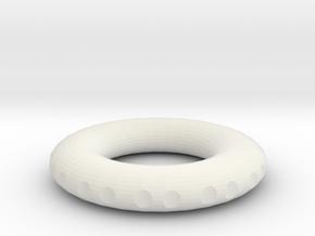 v3 accurate rodin coil frame 40x40x7mm in White Natural Versatile Plastic