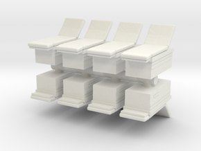 Medical Examination Table (x8) 1/144 in White Natural Versatile Plastic