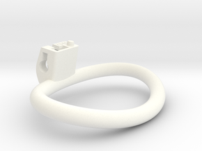 Cherry Keeper Ring - 70x45mm Wide Oval (~58.2mm) in White Processed Versatile Plastic