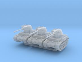 Panzer II L Puma turret (x3) 1/220 in Smooth Fine Detail Plastic