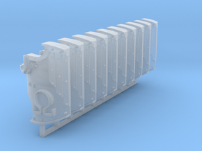 Ω Breaching Shields x10 #1 in Smooth Fine Detail Plastic