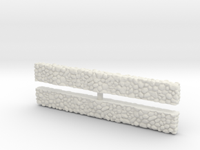Stone Wall (x2) 1/144 in White Natural Versatile Plastic