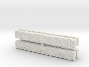 Stone Wall (x4) 1/160 in White Natural Versatile Plastic