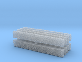 Stone Wall (x8) 1/285 in Smooth Fine Detail Plastic