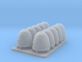 Lobos Del Astro V7 Rimmed ShoulderPads in Smooth Fine Detail Plastic