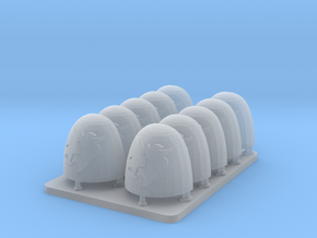 Space Vikings v6 Smooth Shoulder Pads in Smooth Fine Detail Plastic