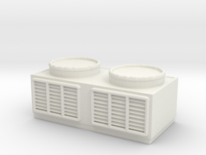 Rooftop Air Conditioning Unit 1/72 in White Natural Versatile Plastic