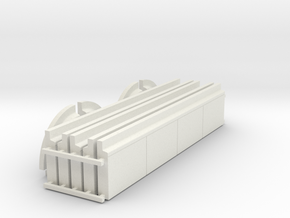 "'N Scale"" - Curb & Gutter - 200' x6' Wide Sidewalk in White Natural Versatile Plastic"
