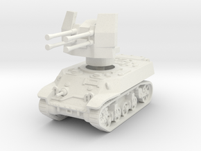 M3A3 with Flakvierling 38 1/72 in White Natural Versatile Plastic