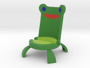 Frog Phone Holder in Natural Full Color Sandstone