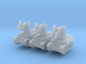 M3A3 with Flakvierling 38 (x3) 1/220 in Smooth Fine Detail Plastic