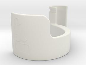 forearm door pull 37.5mm in White Natural Versatile Plastic