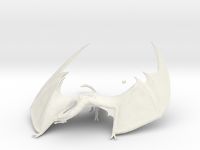 Dragon crawlin 13cm in White Natural Versatile Plastic