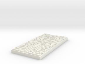 Mayan Tiles 4 x 2 Sun Over Coatl in White Natural Versatile Plastic