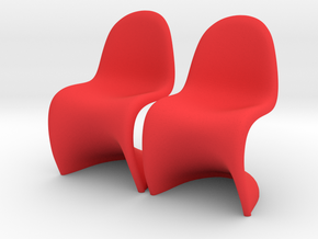 Chair 11. 1:12 Scale in Red Processed Versatile Plastic
