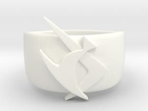 Marine Boy Ring in White Processed Versatile Plastic
