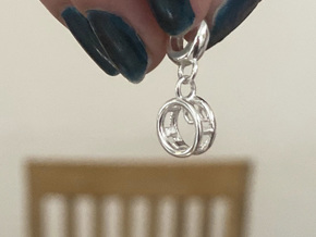 WheelGym Charm in Polished Silver (Interlocking Parts)