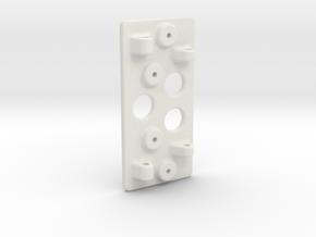 Ultima adjustable wing mount - part B in White Natural Versatile Plastic