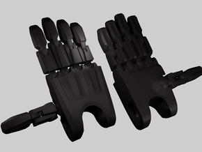 B:JtO articulated hands [Alternative version] in Black Natural Versatile Plastic