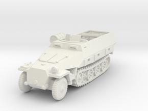 Sdkfz 251/8 D Ambulance 1/87 in White Natural Versatile Plastic