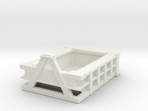 5Yd Construction Dumpster 1/64 in White Natural Versatile Plastic