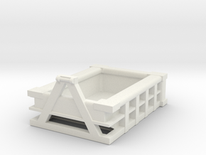 5Yd Construction Dumpster 1/48 in White Natural Versatile Plastic