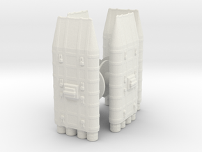 Terran cruiser  The colonial war saga 4pk in White Natural Versatile Plastic