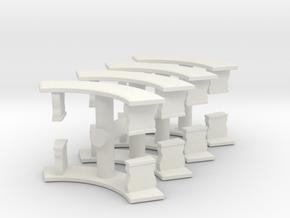 Curved Garden Bench (x8) 1/64 in White Natural Versatile Plastic