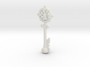 Auric Key in White Natural Versatile Plastic