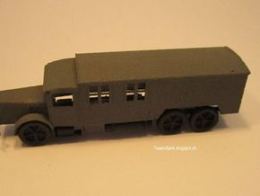 1/144 Vomag truck with closed body Wehrmacht in White Natural Versatile Plastic