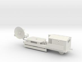 1/144 German Radar Würzburg on railway plattform in White Natural Versatile Plastic