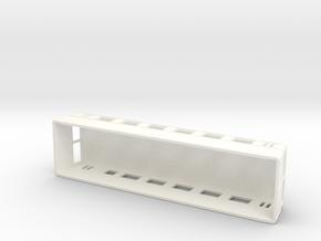 Swedish wagon for railcar UCo1s H0-scale in White Processed Versatile Plastic