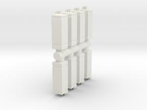 Drinking Fountain (x8) 1/64 in White Natural Versatile Plastic
