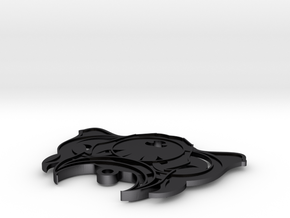 GREEK HOUND Pendant: CERBERUS Ed. in Polished and Bronzed Black Steel