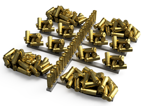 Pile of Heavy Bullet Casings in Smooth Fine Detail Plastic