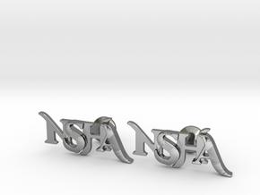 Monogram Cufflinks NSHA in Polished Silver