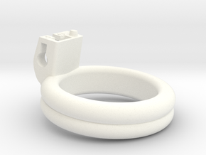 Cherry Keeper Ring - 43mm Double Flat +5° in White Processed Versatile Plastic