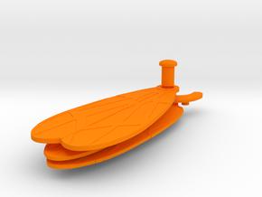 Kronos Wings in Orange Processed Versatile Plastic: Extra Large