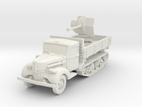 Ford V3000 Maultier Flak 38 early 1/87 in White Natural Versatile Plastic