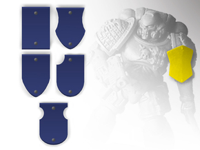 10x Blank - Shoulder Shield variety pack in Smooth Fine Detail Plastic