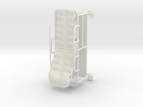 Hospital Gurney tilted rails-up 1:48 in White Natural Versatile Plastic