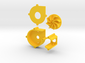 centrifuge blower/fan in Yellow Processed Versatile Plastic