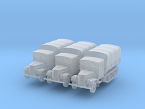 Ford V3000 Maultier late (covered) (x3) 1/285 in Smooth Fine Detail Plastic